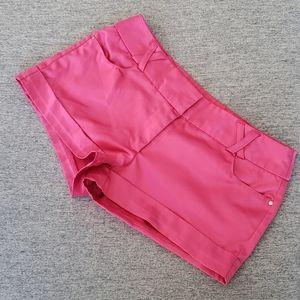 Seductions Hot Pink Satin Short Shorts